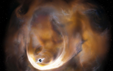 Black Hole Has Scattered  Molecular Clouds