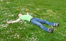 Man at rest