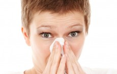 Woman with colds