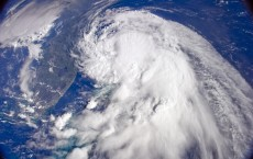 Tropical Storm as Captured from the International Space Station