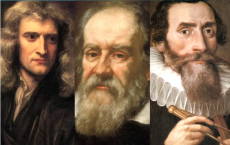 Isaac Newton, Galileo Galilei & Johannes Kepler