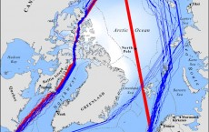 2050 navigation routes for ships seeking to cross the Arctic Ocean