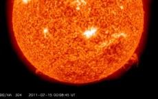 Sun emits first x class flare in 4 years
